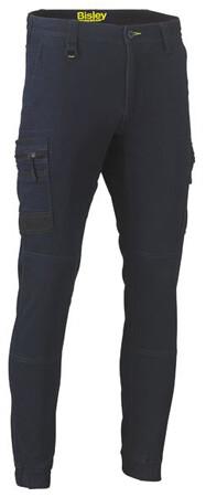 BISLEY Pants F +amp M Stretch Denim Cargo Cuffed BPC6335