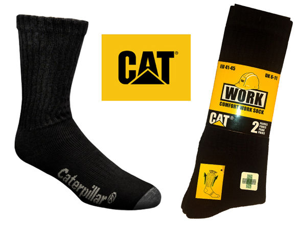 CAT Industrial Work Socks Pkt 2 P203200