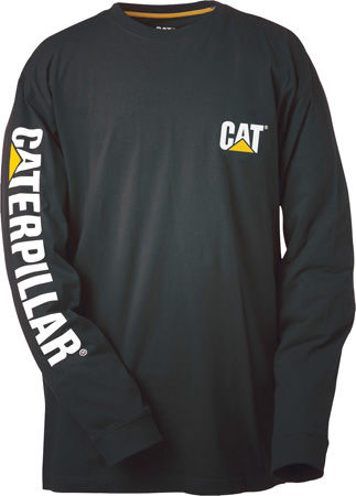 CAT Trademark Banner Long Sleeve Tee P510034