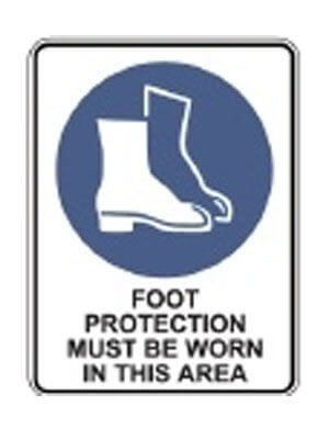 Foot Protection Must Be Worn In This Area