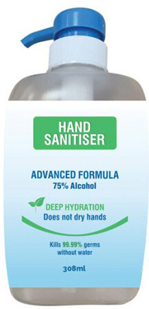 Hand Sanitiser - 308ml BUHS308