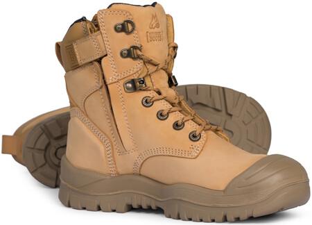 MONGREL ZipSider Safety Boot High Leg with Scuff Cap 561050