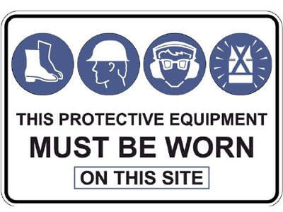 This Protective Equipment Must Be Worn On This Site