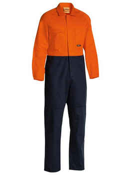 BISLEY Coveralls Cotton Drill Hi-Vis (BC6357)