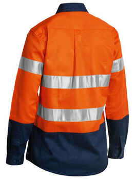BISLEY Hi-Vis Drill Shirt Taped Womens BLT6456