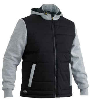 BISLEY Jacket Flex +amp Move Contrast Puffer Fleece Hoodie BJ6944
