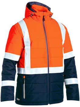 BISLEY Jacket Taped Two Tone Hi Vis Puffer (BJ6929HT)