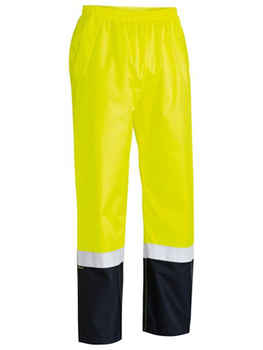 BISLEY Pants Taped Two Tone Hi Vis Shell Rain (BP6965T)