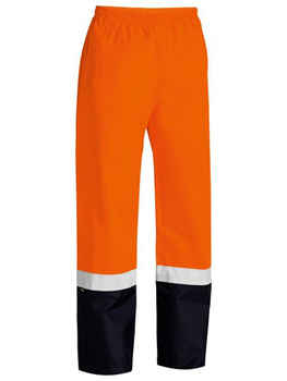 BISLEY Pants Taped Two Tone Hi Vis Shell Rain BP6965T