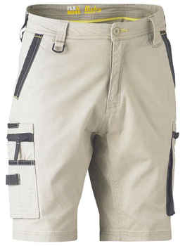 BISLEY Shorts Flex +amp Move Stretch Utility Zip Cargo BSHC1330