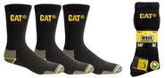 CAT Socks Crew Pkt 3 (P214300)