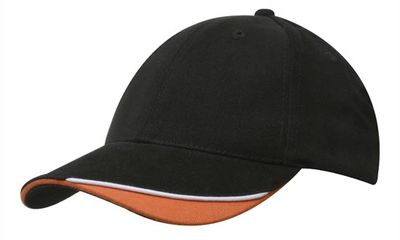Cap Brushed Heavy Cotton with Indented Peak - (4167)