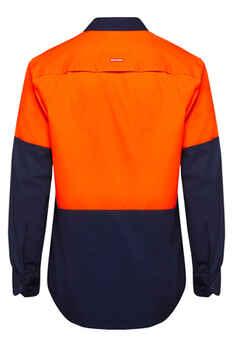 HARD YAKKA Shirt Hi Vis Vented LS Y07950