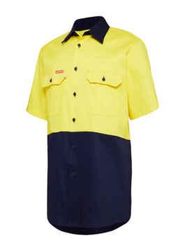 HARD YAKKA Shirt Hi Vis Vented SS Y04620