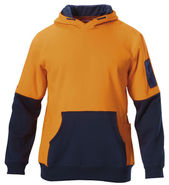 HARD YAKKA Hoodie Hi-Vis Two Tone Brushed Fleece (Y19325)