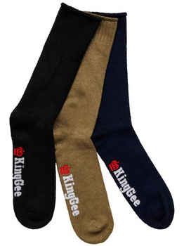 KING GEE Bamboo Work Socks Mens - 3 Pack (K09271)