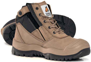 MONGREL ZipSider Safety Boot with Scuff Cap (461060)