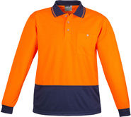 SYZMIK Basic Long Sleeve Polo ZH232